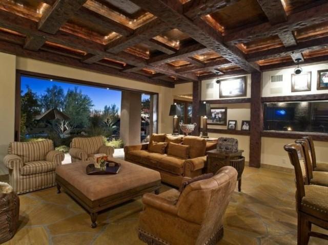 techo de madera estilo rustico diseño campestre cuero
