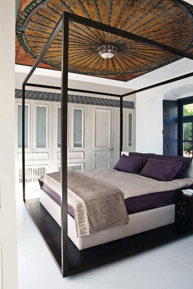 techo de madera hierro idea diseño interesante