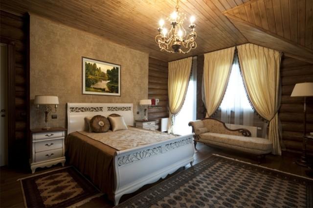 Techo de madera atractivo clasico en tu hogar - Lamparas estilo rustico ...