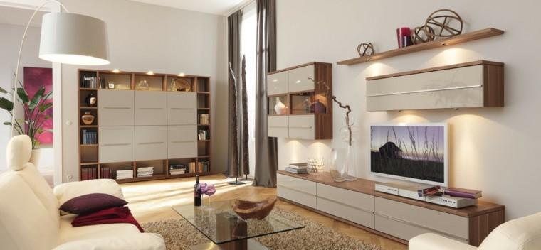 tecnología televisor moderno salon mesa cristal ideas