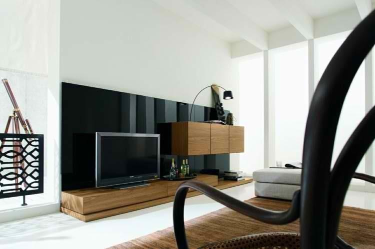 televisor minimalista lampara muebles