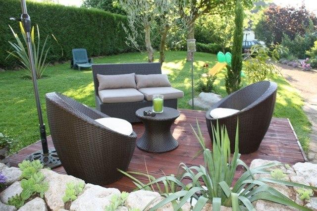 Muebles Para Terrazas Pequeñas : Terrazas preciosas ideas atractivas para el exterior