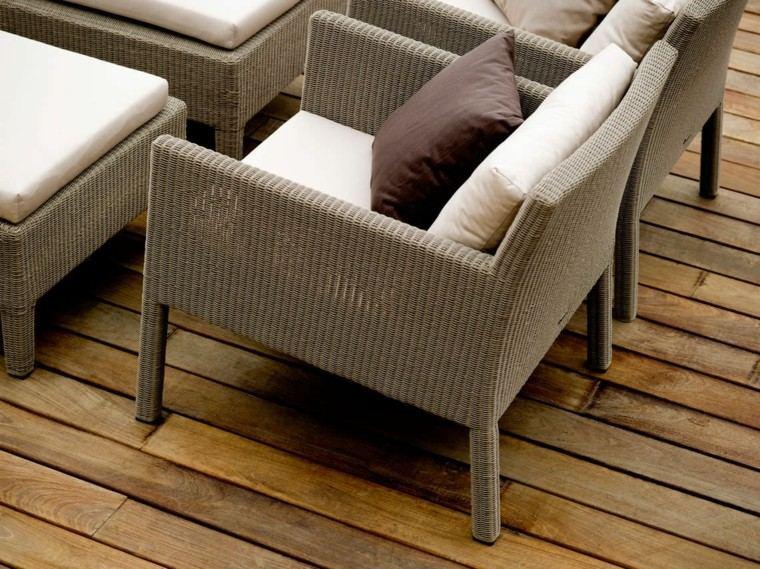 terra diseño madera terraza cojines