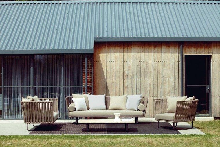 terraza asientos sofa cojines casa