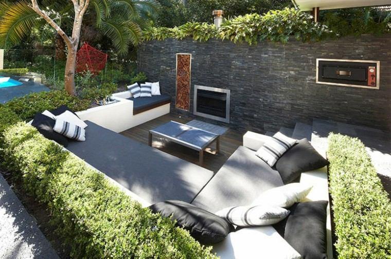 terraza estupenda patio horno chimenea