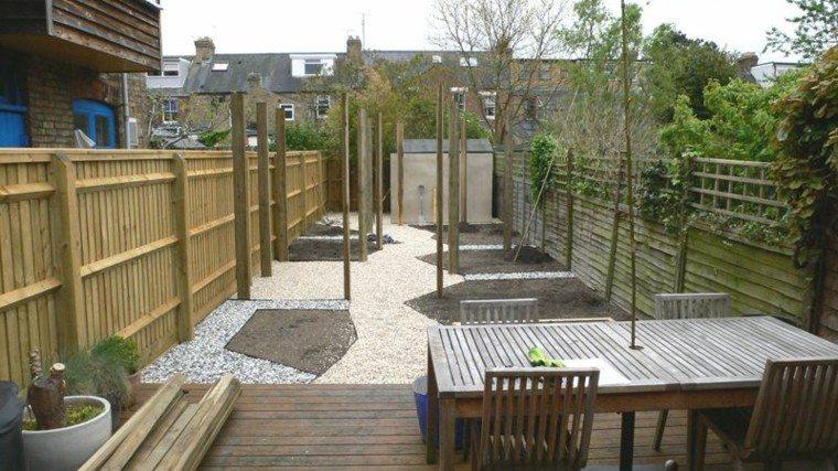 terraza madera teca plataformas muebles