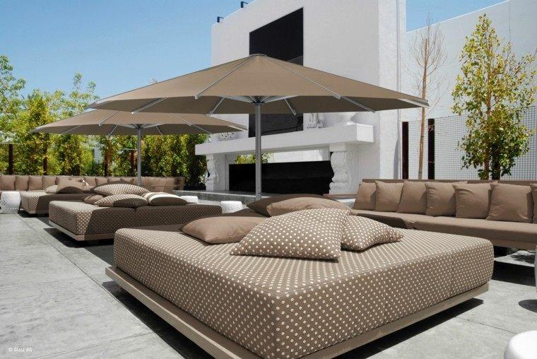 Parasoles jardin sombras refrescantes para el verano - Sombrillas para terrazas ...
