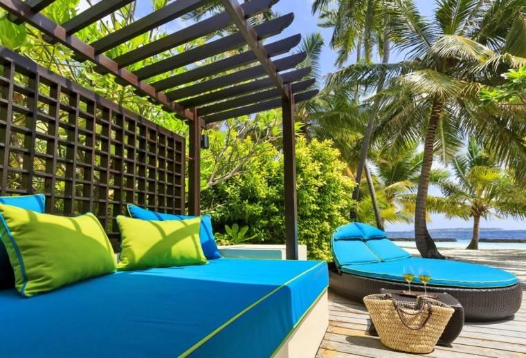 terraza pergola madera moderna vistas ideas