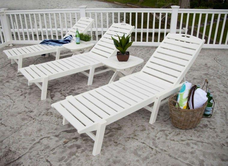terraza tumbona blancas cesto canasta