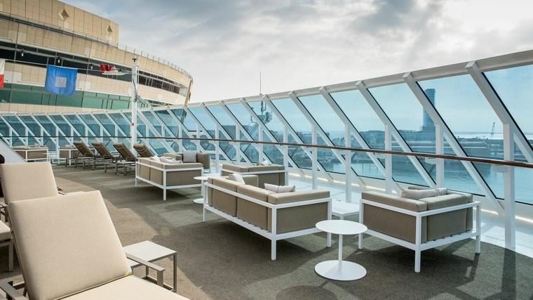 terraza vista cristales moderno playa