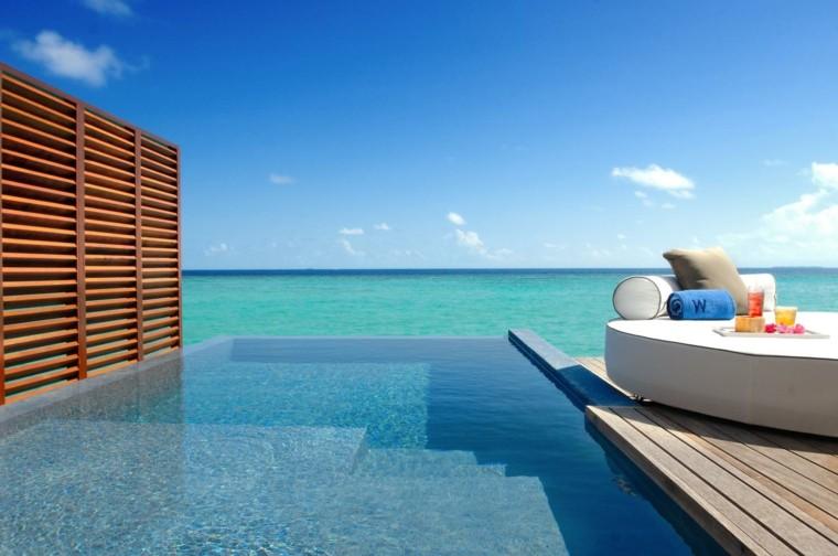 terraza vista oceano piscina ideas moderna