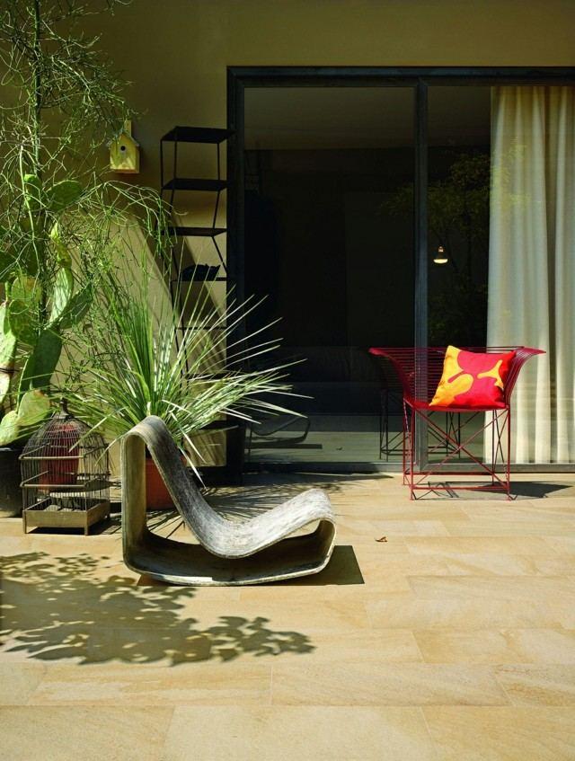 terrazas minimalistas sillas interesantes ideas moderna