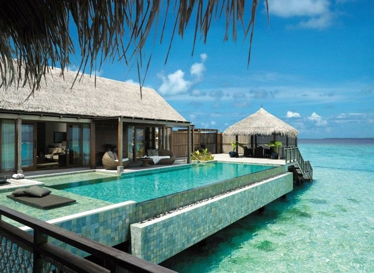 terrazas pergola piscina muebles comodos ideas