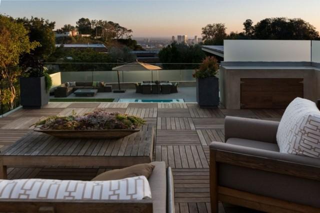 terrazas suelo madera amplias vista moderna preciosa