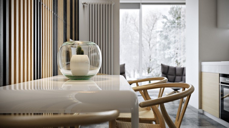 textura madera jarron planta sillas
