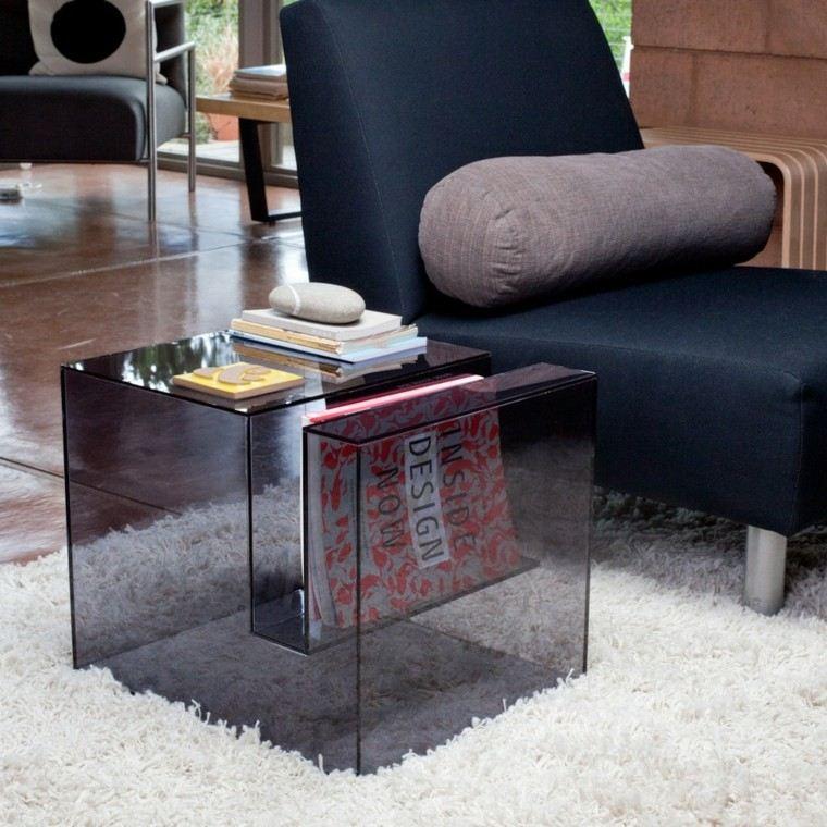 tiempos modernos y muebles acrilico mesa revista