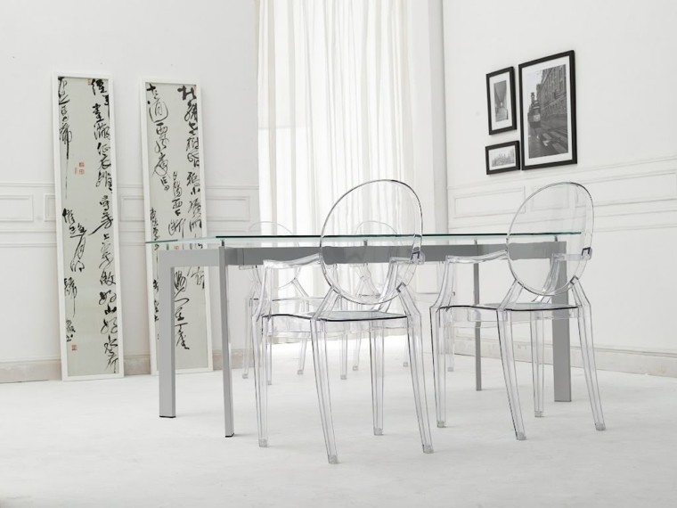 tiempos modernos y muebles comedor blanco cuadros