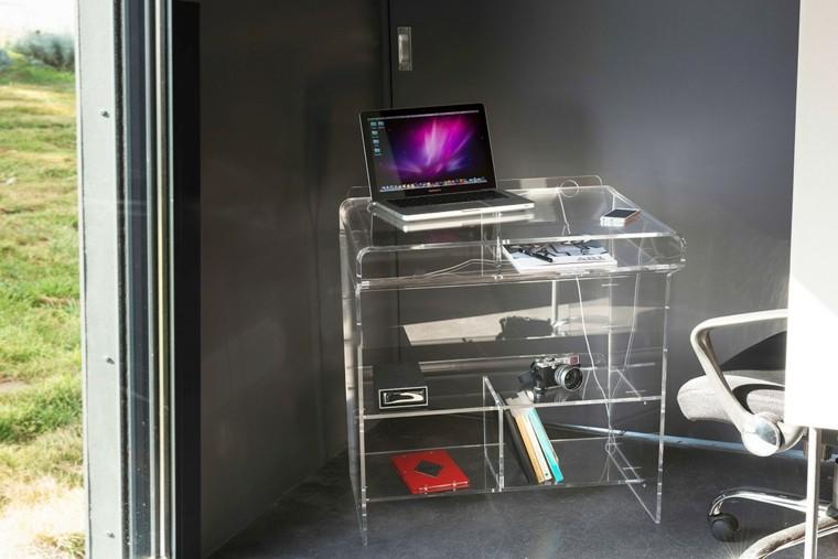 tiempos modernos y muebles mesa computadora patio