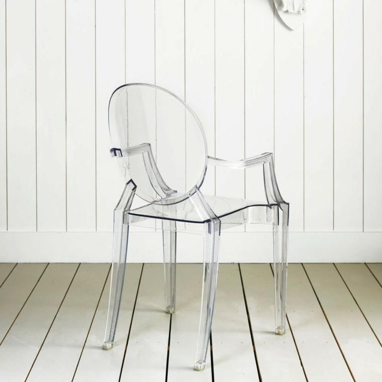 tiempos modernos y muebles silla acrilico madera