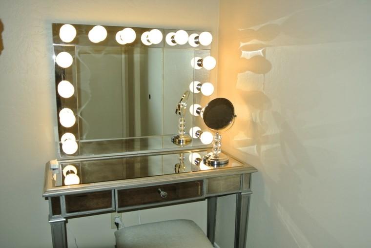 Decorar cuartos con manualidades tocador con espejo y - Tocador con espejo y luces ...