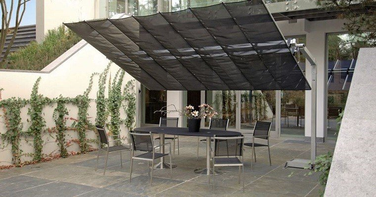 Parasoles jardin sombras refrescantes para el verano - Toldos de tela para terrazas ...