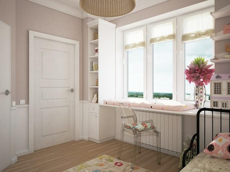 tonos rosa decoracion diseño flores ventanas