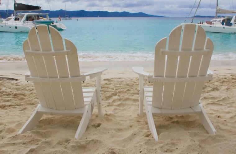 tradicional sillas blancas madera concha