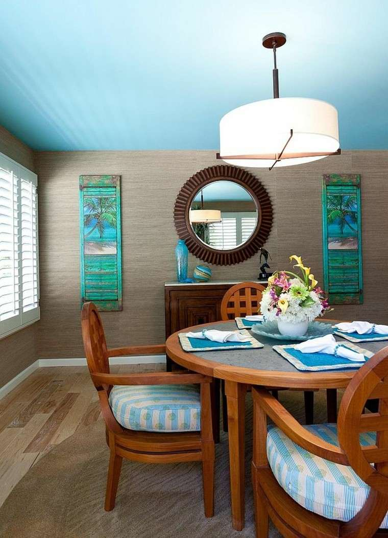 tropical estilo techo decoracion lampara muebles