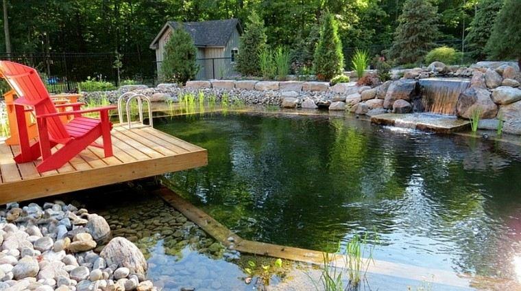 piscinas naturales jardín estanque