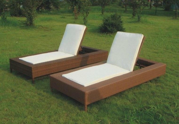 tumbona jardin moderna patio regulable blanco