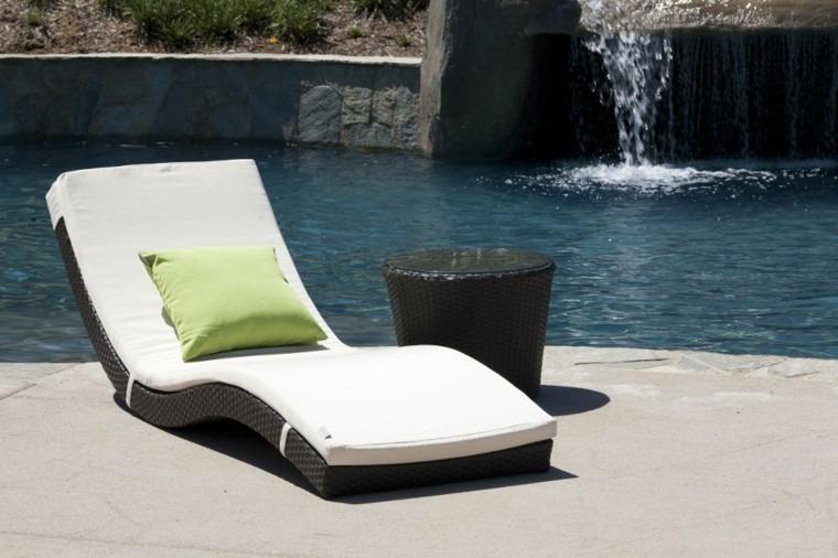 Tumbonas jardin y relax ideas para disfrutar del buen tiempo - Cojines para tumbonas ...
