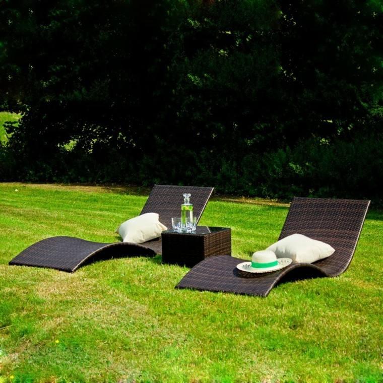 Tumbonas jardin y relax ideas para disfrutar del buen tiempo for Cojines para hamacas