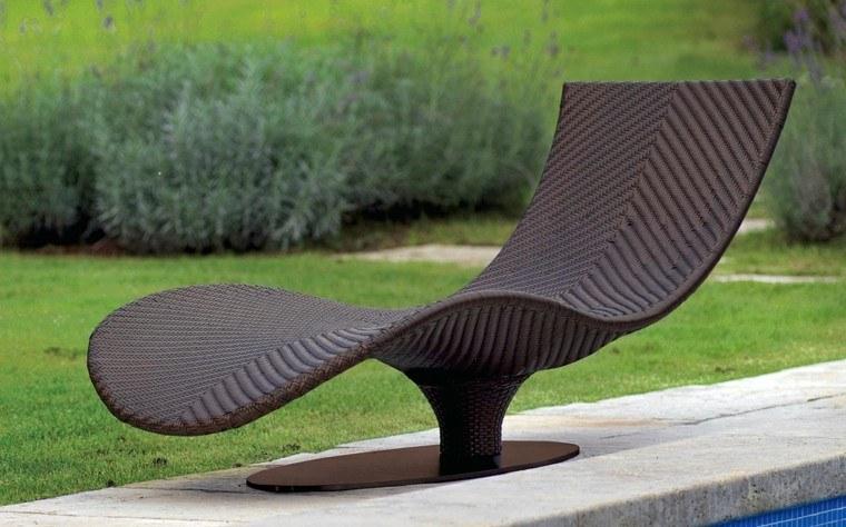 tumbona jardin moderna diseño elegante