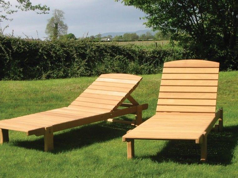 tumbonas jardin resistente patio baratas madera