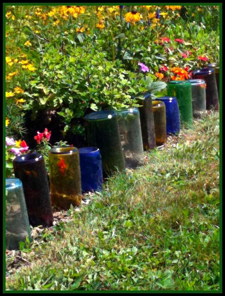 valla flores botellas botes colores