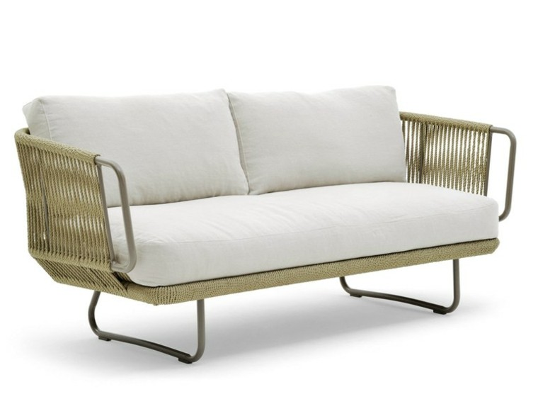 varaschin sofá elástico color blanco