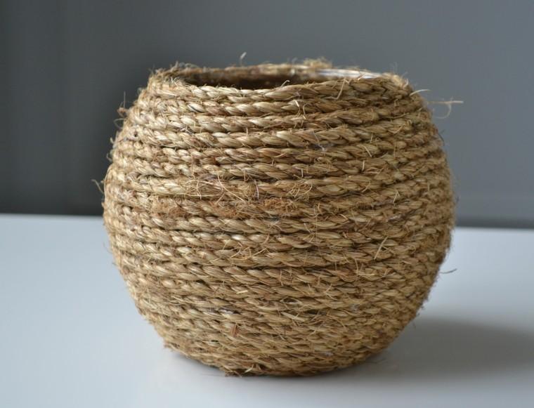 cuerdas de c amo para decorar cuencos y jarrones