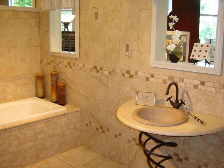 velas azulejos beige moderno ideas baño