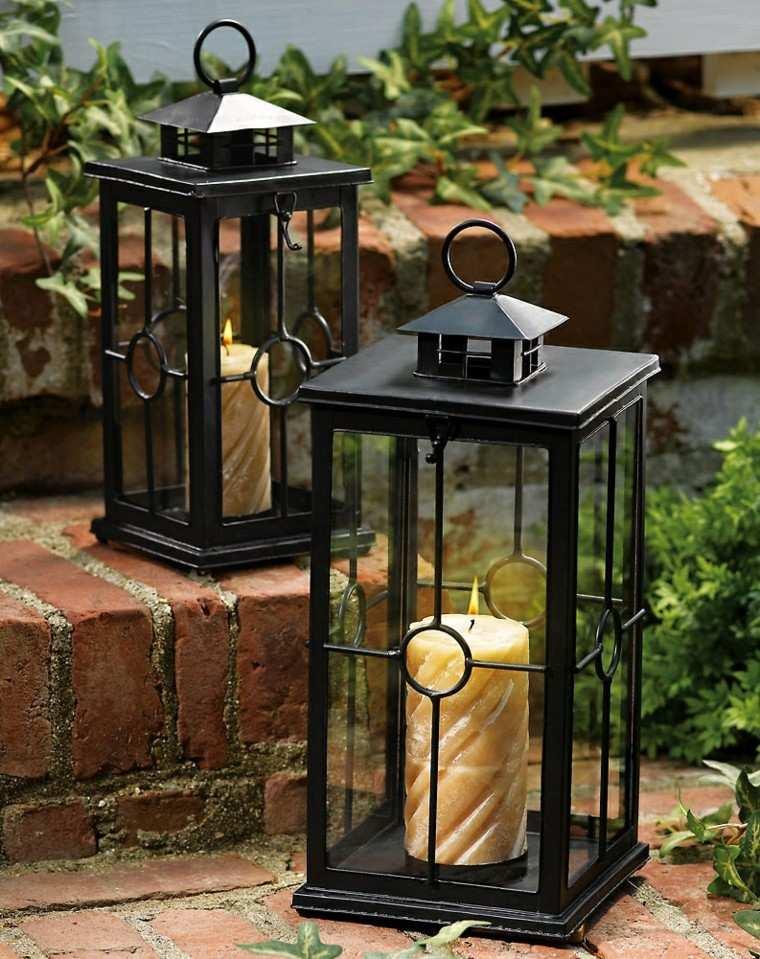 velas metalicos lamparas linternas escaleras