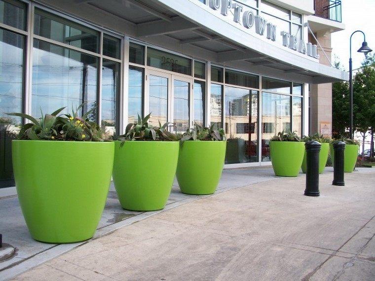 verde jardineras calle colores publico