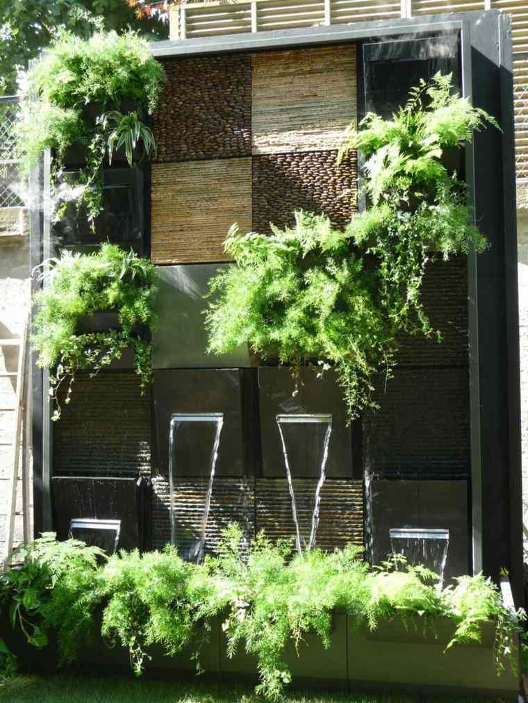 vertical muro creativo verde cascada