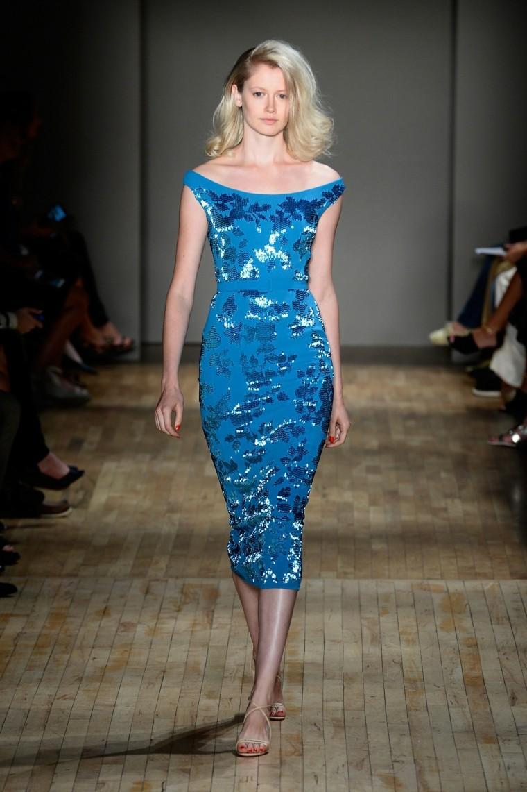 vestido azul lentejuelas estilo elegante
