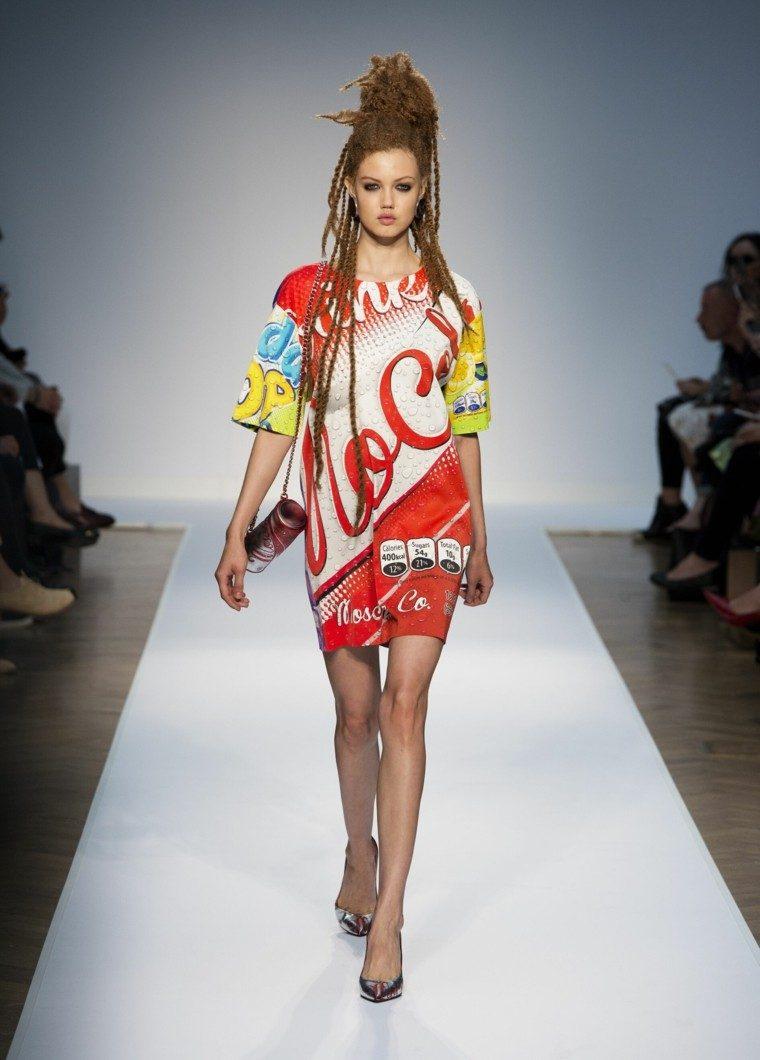 vestido coca cola moschino colores