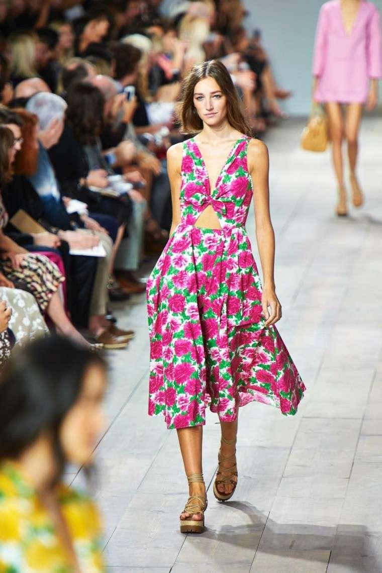 vestido largo estampados flores rosa