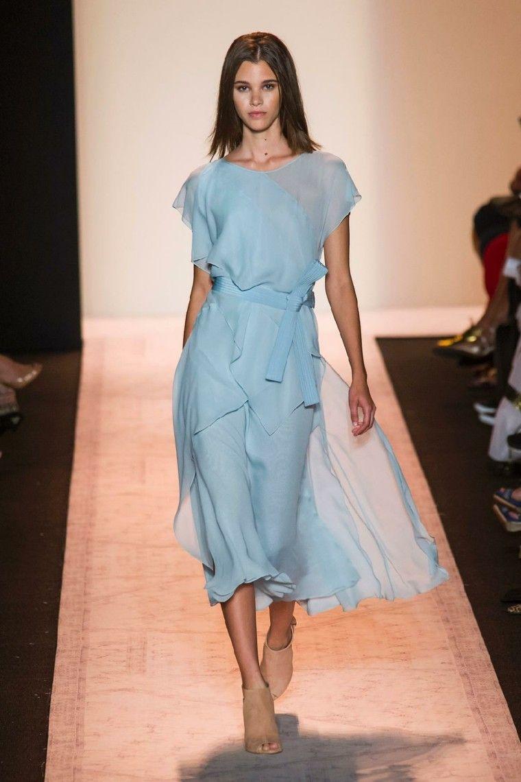 vestido túnica celeste ligero largo