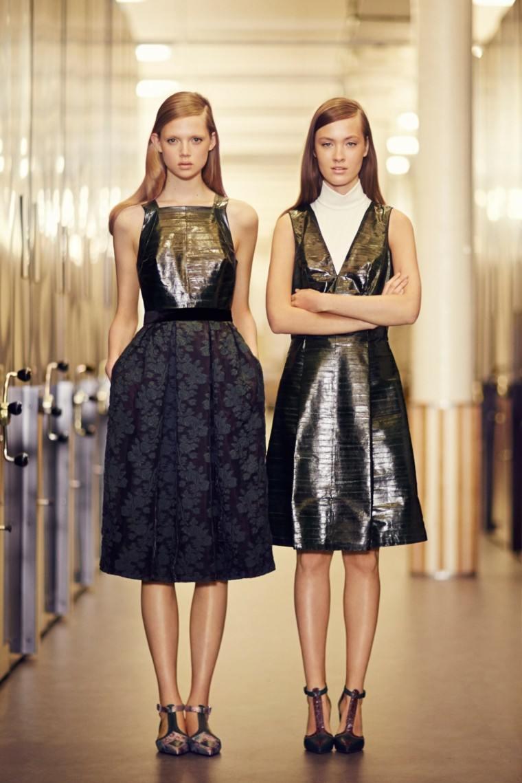 vestidos elegantes media altura negro