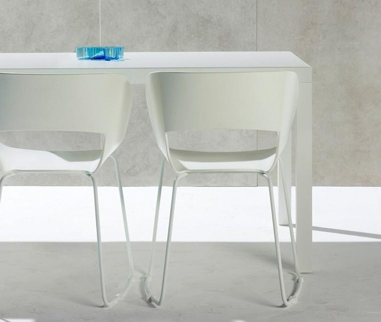 vista cerca sillas blancas modernas ideas originales modernas