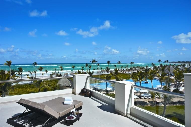 vistas maravillosas terrazas tumbona sol oceano ideas