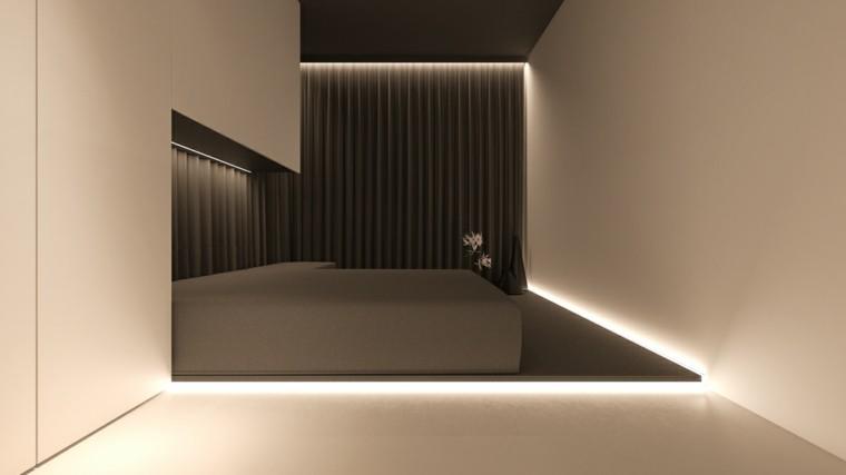 Iluminaci n led 75 ideas incre bles para el hogar - Habitacion estilo zen ...