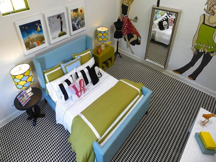 anne rue alfombra preciosa cama azul claro chica dormitorio ideas